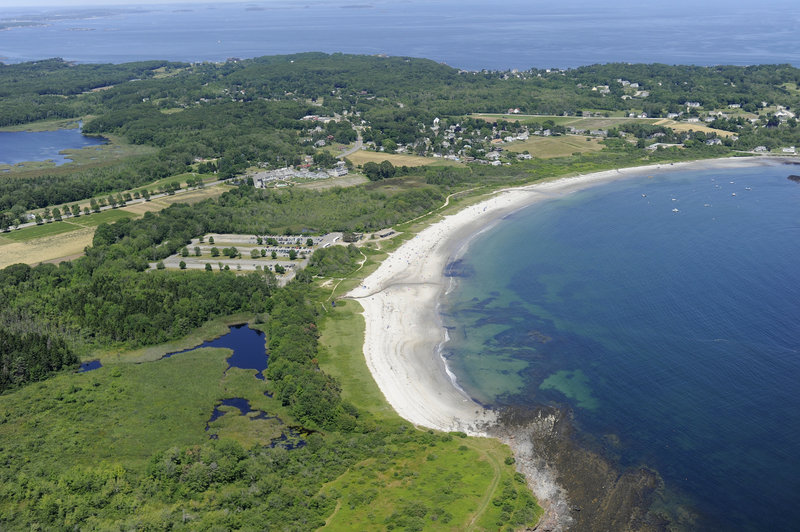 Crescent Beach State Park in Cape Elizabeth attracts about 110,000 people a year. The Sprague Corp., which owns part of the land, says it wants to preserve public access to the beach and hiking trails.