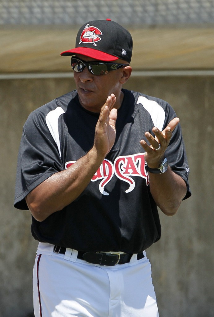Edwin Rodriguez once managed the Florida Marlins, but now is helping develop players in Class A in the Indians' system.