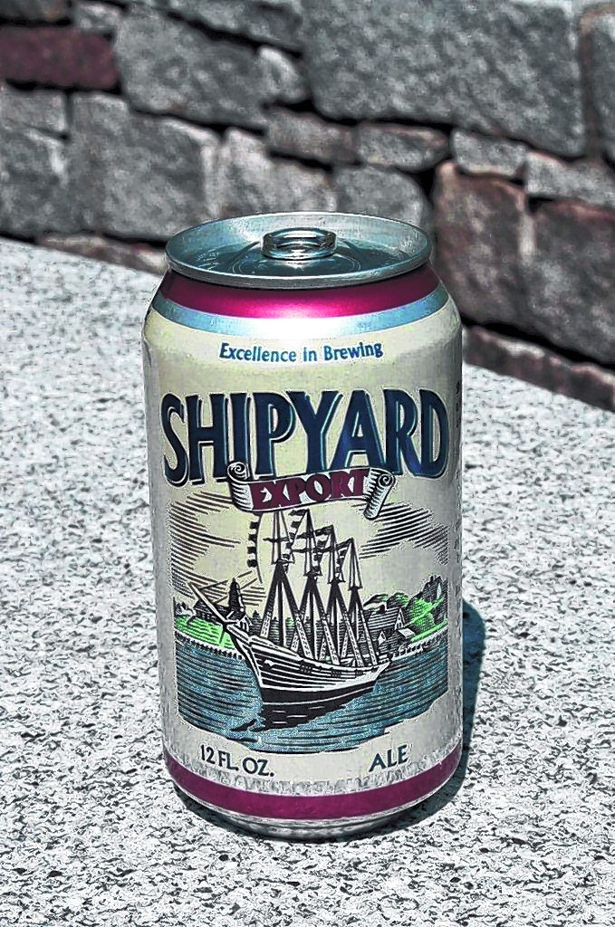 In this photo, a can of Shipyard Export. Shipyard Brewing Company is expanding its brewing operation to Memphis, Tenn., a move that will help the company increase production of its Pumpkinhead ale and offer Shipyard Export in cans for the first time.