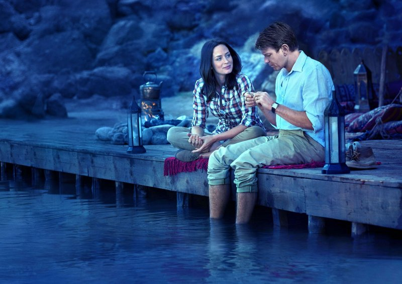 "Emily Blunt and Ewan McGregor in ""Salmon Fishing in the Yemen."""