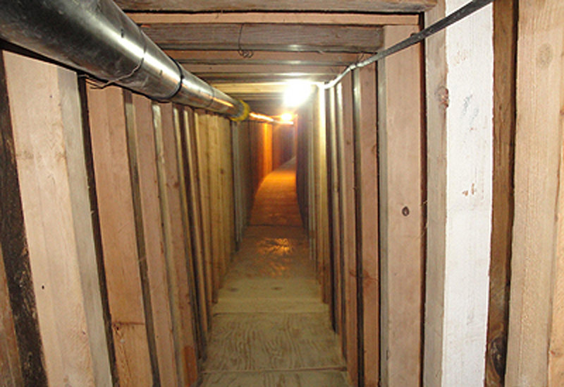 A 240-yard tunnel runs from a vacant strip-mall storefront in the southwestern Arizona city of San Luis to an ice-plant business in the Mexican city of San Luis Rio Colorado.