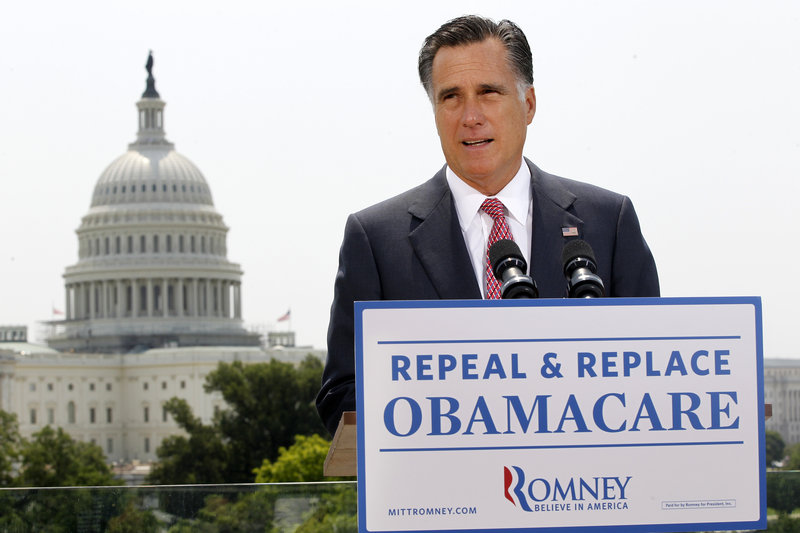 Republican presidential candidate Mitt Romney has vowed to repeal the Affordable Care Act, but doesn't say what he'd replace it with.