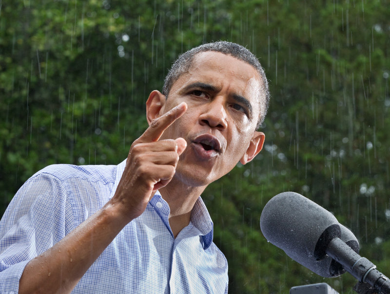 President Barack Obama, above, as the incumbent, enjoys the advantage of being able to make executive rules to satisfy key constituencies. Republican presidential candidate Mitt Romney, below, tries to stay focused on the economy.