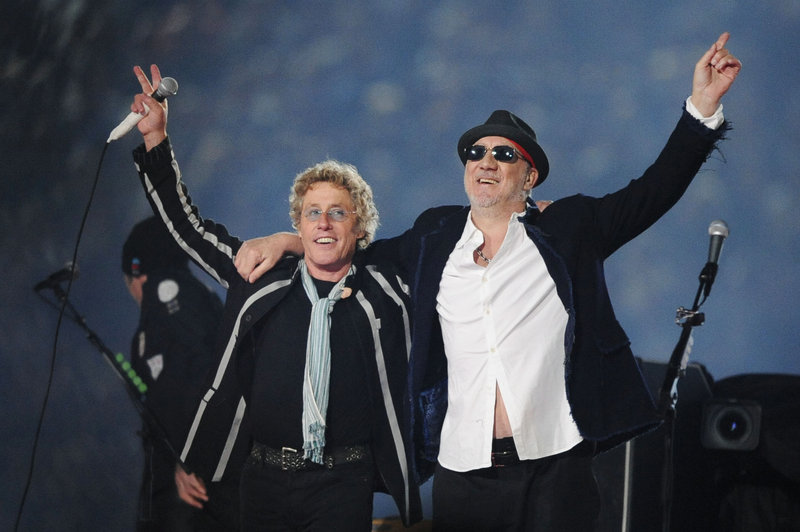 "Roger Daltrey, left, and Pete Townshend, seen on the stage at the 2010 Super Bowl in Miami, are taking ""Quadrophenia"" on the road for a U.S. tour this fall."