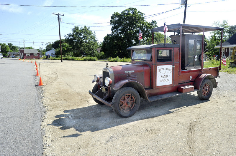 A 1928 Brockway truck is among some of the 300 trucks collected by Erv Bickford. Before he died, Bickford, secured the municipal permits needed to build the pavilion.