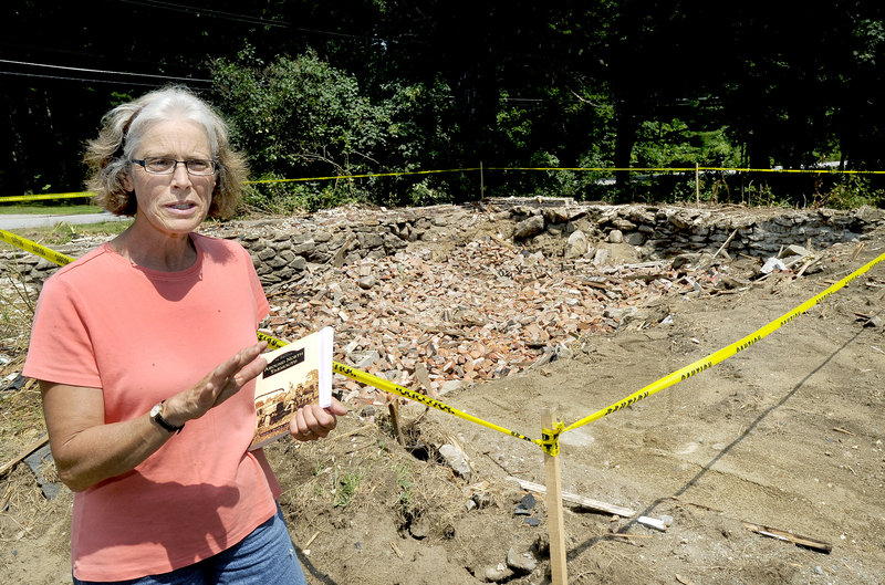 """Katie Murphy, president of North Yarmouth Historical Society, says the Yarmouth Water District's recent demolition of the early-1800s Beckwith house in North Yarmouth is """"infuriating."""""""