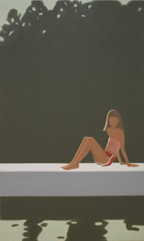 """Tracy on the Raft at 7:30"" by Alex Katz, oil on canvas"