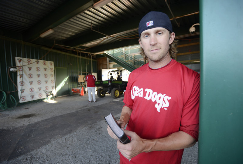 "Josh Fields, a reliever for the Portland Sea Dogs, is one of several players open about their spiritual faith. ""There is a real person behind that uniform,"" says team chaplain Bob McClure."
