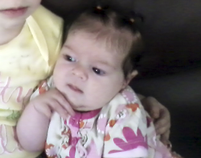 This undated photo provided by Nicole Greenaway shows her 3-month-old daughter, Brooklyn Foss-Greenaway, who died while in a babysitter's care on July 8, 2012.