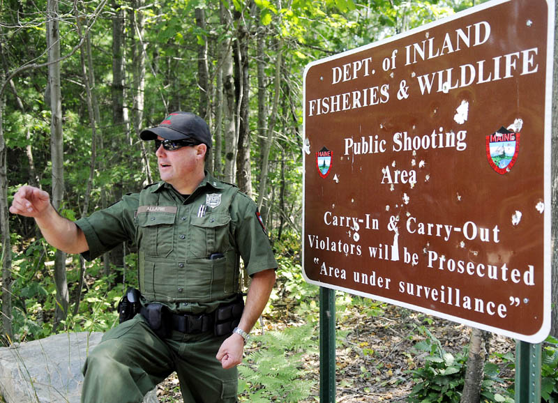 District Game Warden Steve Allaire has overseen the clean up and opening of a target range on state land in the Summerhaven pits in Augusta.