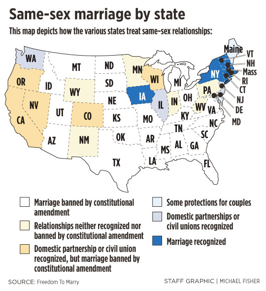 the history of same sex marriage banning and recognition in the united states Media caption the morning gay marriage came to the us the us supreme court has ruled that same-sex marriage is a legal right across the united states it means the 14 states with bans on same-sex marriage will no longer be able to.