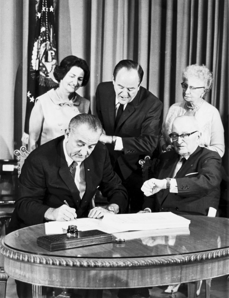 Forty-seven years ago, President Lyndon Johnson signed Medicare into law. The writers urge an immediate expansion of Medicare to everyone in the United States.