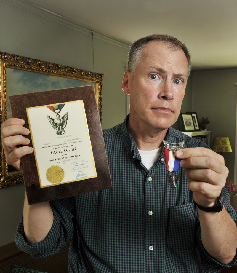 """Austin Smith of Portland is returning his Eagle Scout medal in protest of the Boy Scouts of America's recent reaffirmation of it's policy banning openly gay scouts and leaders. """"I can no longer support the BSA if it cannot include or recognize the gay community,"""" he said."""