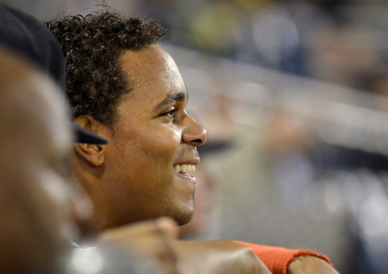 Xander Bogaerts is a happy Sea Dog, as he hit a solo homer in Friday's 4-3 win over Binghamton. Bogaerts is batting .339 with five home runs in 14 games with Portland.