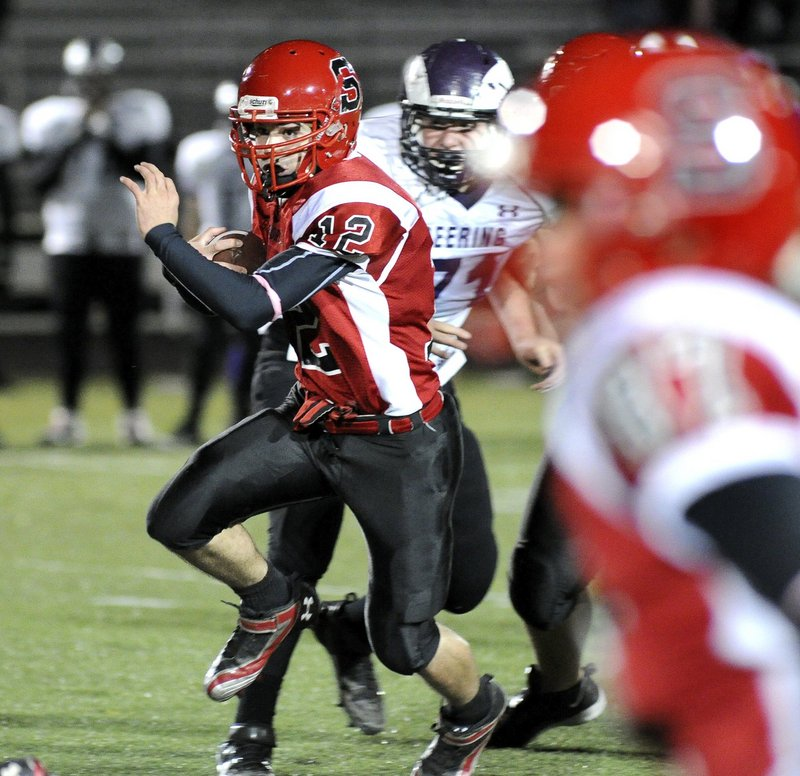 Dillon Russo of Scarborough, when healthy, is one of the top pass/run threats in the region.