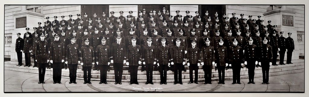Police group shot photographed in 1933.
