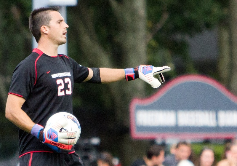 Injuries have slowed Oliver Blum's development in college, but the former Greely High standout is now in his third year as the No. 1 keeper at Northeastern.