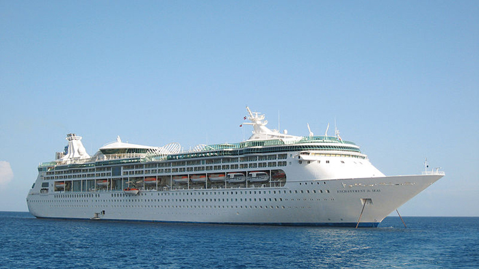 Enchantment of the Seas, with 2,250 passengers and 870 crew, is scheduled to arrive in Portland on Saturday morning.