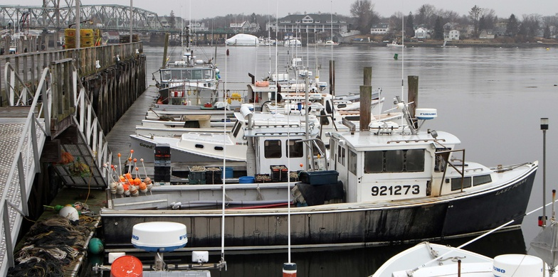 Fishing boats are moored at the Commercial Fishing Pier in Portsmouth, N.H., last winter. The government has declared New England's groundfish industry a 'disaster' clearing the way for financial assistance.