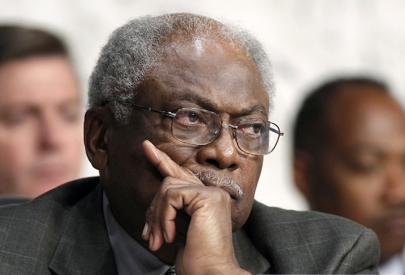 In this Sept. 13, 2012 file photo, House Assistant Minority Leader James Clyburn of S.C. listens on Capitol Hill in Washington. For decades, Southerners put a firm imprint on national politics from both sides of the aisle, holding the White House for 25 of the last 50 years and producing a legion of Capitol Hill giants throughout the 20th century. But that kind of obvious power has waned as Democrats and Republicans in the region navigate the consequences of tidal shifts in demographics, migration and party identity. (AP Photo/J. Scott Applewhite, File)