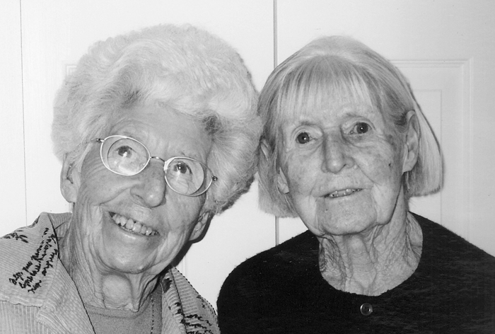Ruth Grant, right, with her sister, Majorie Hobson.