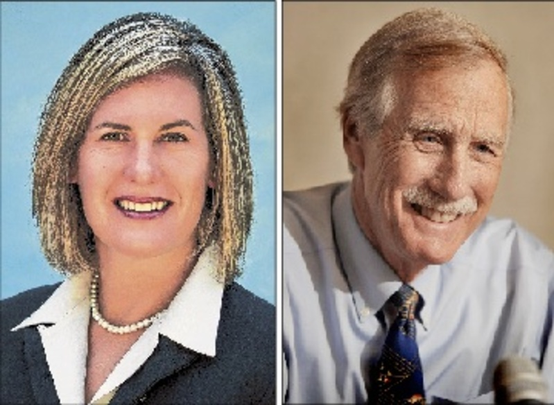 Senate candidates Cynthia Dill, Democrat, and Angus King, independent