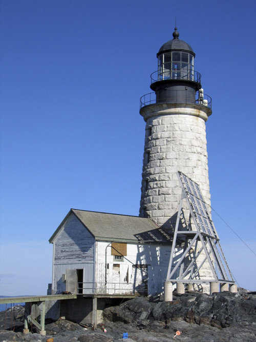 The Halfway Rock lighthouse (2006).