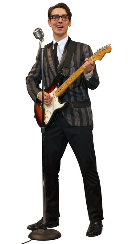 Kurt Jenkins as Buddy Holly in the Ogunquit Playhouse Production of