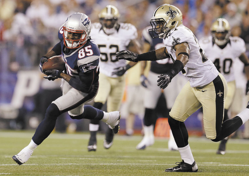THE MISSING PIECE? The New England Patriots hope Brandon Lloyd can be the deep threat they were missing last season when they lost to the New York Giants in the Super Bowl.