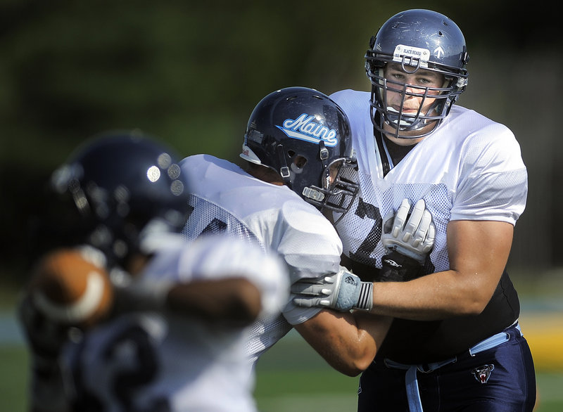Benedict Wezel discovered football in his native Berlin, played for a club team there, and now is at UMaine with hopes of someday getting a chance to play in the NFL.