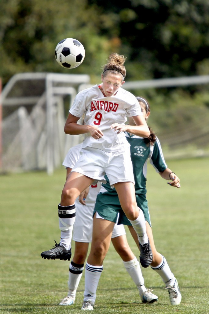 Taylor Littlefield of Sanford said she still uses headers in a game, but for shots on goal or corner kicks. She thinks twice about using her head to knock down long balls.