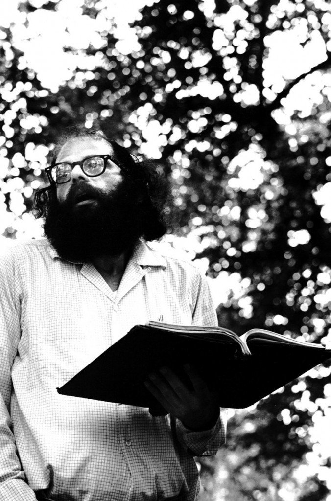 """""""Allen Ginsberg Reads Poetry in Tompkins Square Park, New York City,"""" 1966, also by Gatewood."""