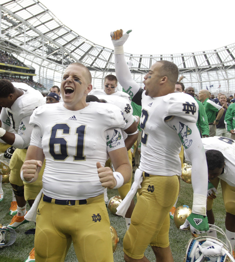 Long snapper Scott Daly and his Notre Dame teammates had many reasons to smile Saturday after a blowout win.