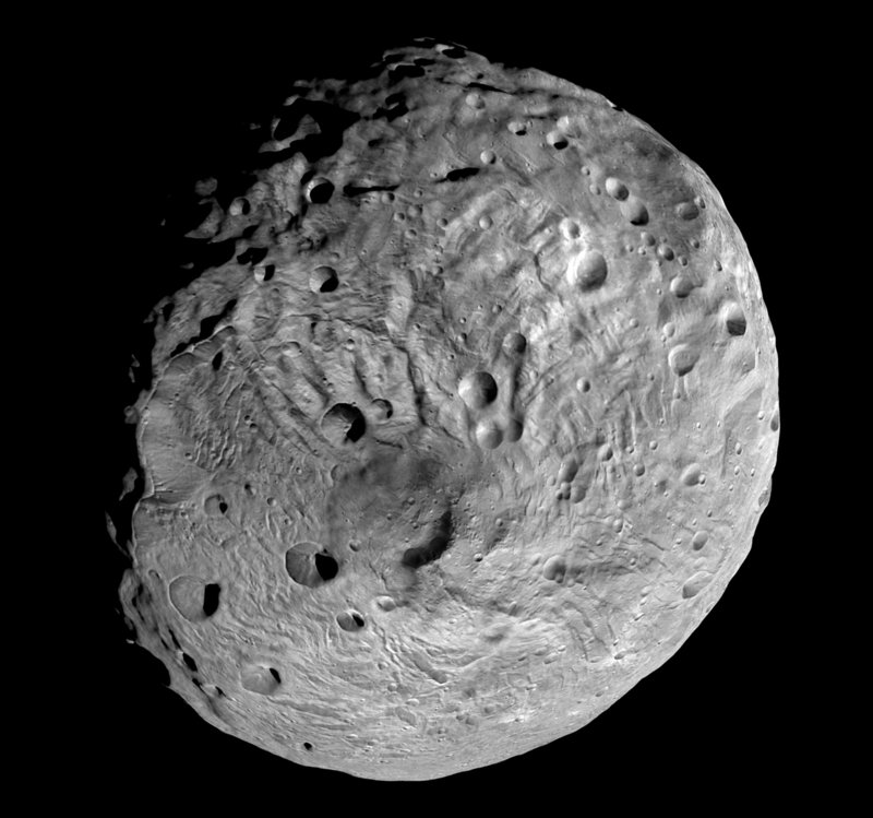 The south pole of the giant asteroid Vesta was photographed by the NASA Dawn spacecraft during its yearlong visit.