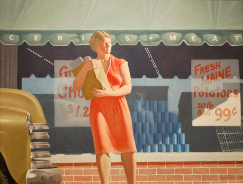 """""""Linda Marketing,"""" oil on canvas, by Rufus Coes."""