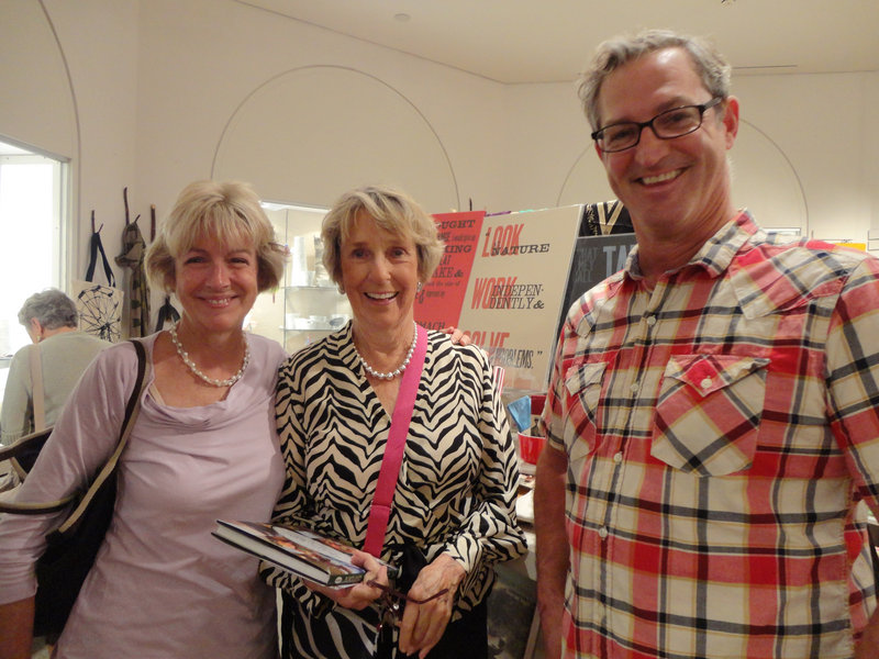 Pam Peeler and Gretchen Somer of Falmouth and Mike Keon of Otto Pizza at the Museum Store. About 150 people sampled featured recipes by five local restaurants at the event.