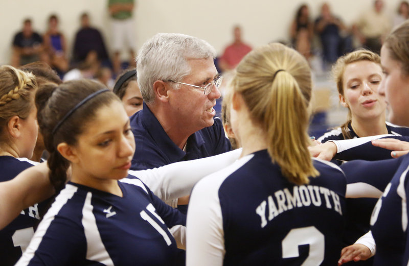 Jim Senecal, who guided Yarmouth to the Class B state title last fall, says it's been difficult to develop a feeder program at the middle school level.