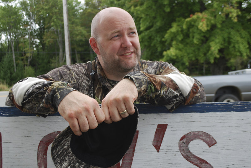 """Tommy Henley, a firefighter who hails from Tennessee, has been coming to Maine for six years to hunt. """"This is where I decompress. And I love the people,"""" he said. """"The locals in the stores now remember my name."""""""