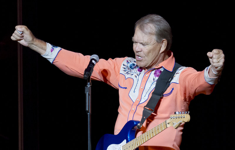 Glen Campbell performs Sept. 6 during his Goodbye Tour in Little Rock, Ark. The 76-year-old member of the Country Music Hall of Fame is battling Alzheimer's.