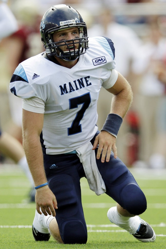 Maine quarterback Marcus Wasilewski was 20 for 42 passing and did not get sacked in his first game as a starter for the Black Bears. BC, however, converted his two interceptions for touchdowns.
