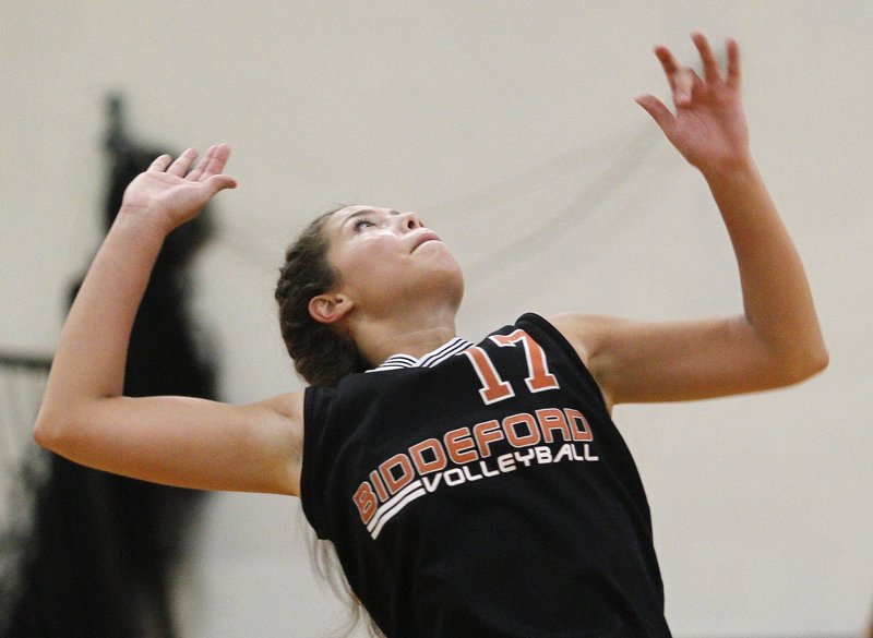 Katelyn Lebreux is one of the leaders for a strong Biddeford team that already owns a victory over perennial powerhouse Greely.