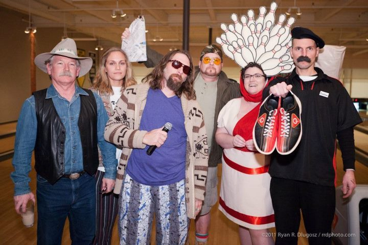 """Revelers at last year's """"Viva Lebowski,"""" including Dave Cousins as the Dude, center."""