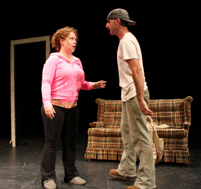 "Karyn Diamond and Christopher J. Clemens in ""Surprise"" by Elizabeth Guffey."