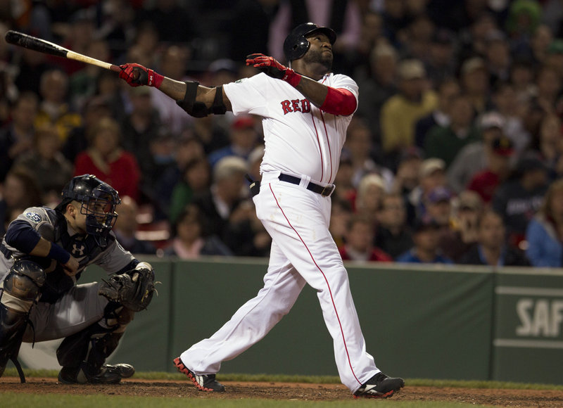 David Ortiz was in the midst of an outstanding season at age 36, but an Achilles injury limited him to 90 games.