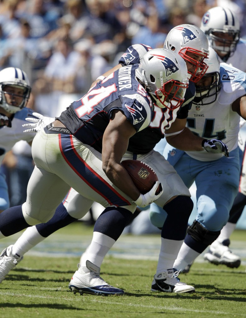 Dont'a Hightower, another first-round pick for the Patriots last April, returned a fumble for a touchdown in Sunday's win against Tennessee.