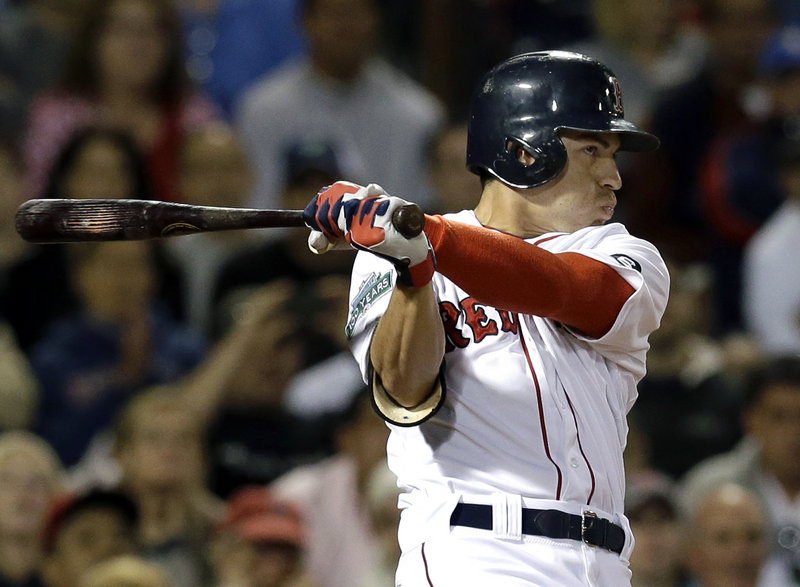 Jacoby Ellsbury, on his 29th birthday, delivers the winning single in the ninth inning Tuesday night as the Boston Red Sox beat the New York Yankes, 4-3.