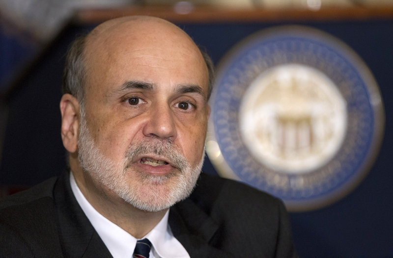 """We're looking for ongoing, sustained improvement in the labor market,"" says Fed Chairman Ben Bernanke."