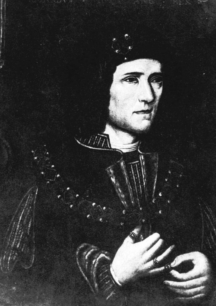 King Richard III of England is portrayed in a painting.