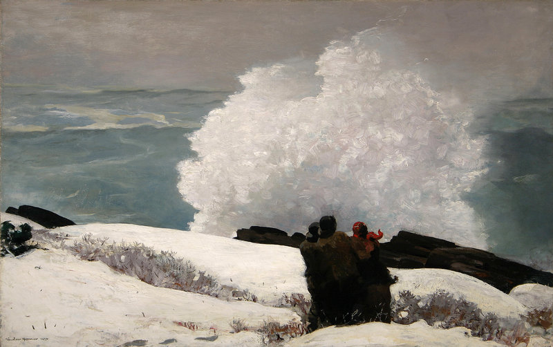 """Watching the Breakers – A High Sea,"" oil on canvas, 1896."