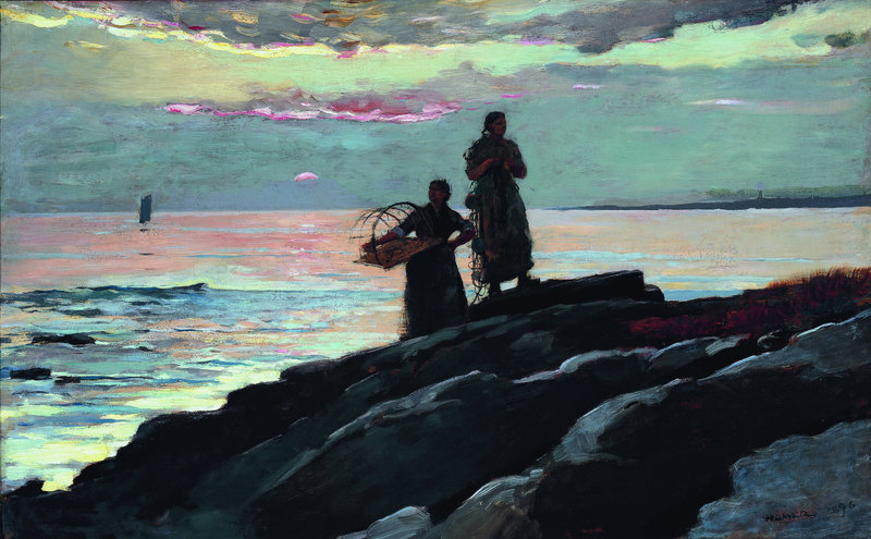 "Saco Bay,"" oil on canvas, 1896."